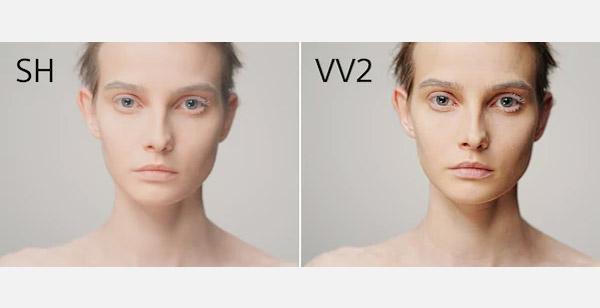 SH与VV2效果对比展示