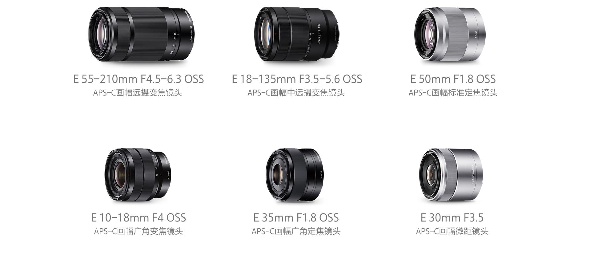 APS-C畫幅遠攝變焦鏡頭&APS-C畫幅中遠攝變焦鏡頭&APS-C畫幅標準定焦鏡頭&APS-C畫幅廣角變焦鏡頭&APS-C畫幅廣角定焦鏡頭&微距鏡頭
