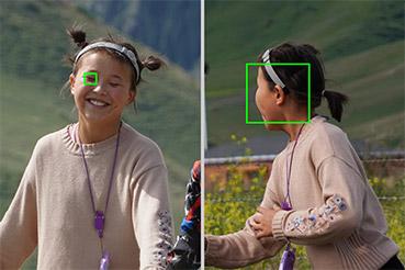 身體到面部和眼部追蹤的無縫切換