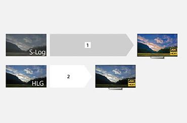 S-Log和HLG效果对比图