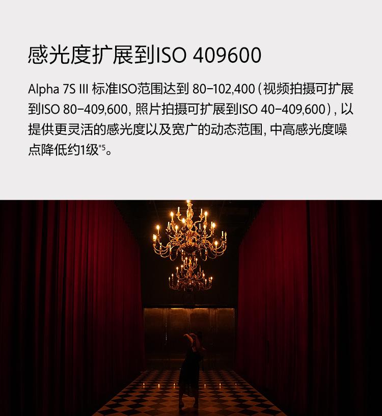 感光度扩展到ISO 409600